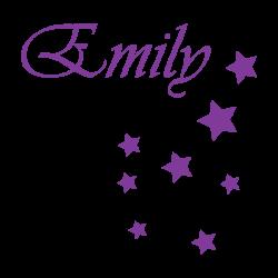 Sticker prénom fille étoiles