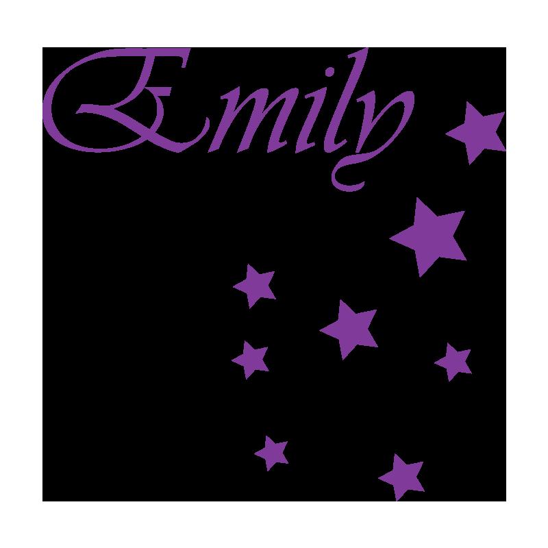 Stickers enfants filles personnalisés prénom et étoiles