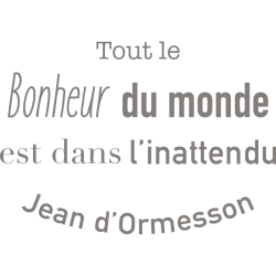 Sticker de citation célèbre