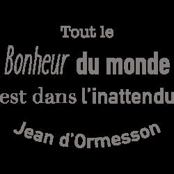 Sticker de citation Tout le bonheur ...