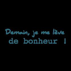 Stickers texte bonheur