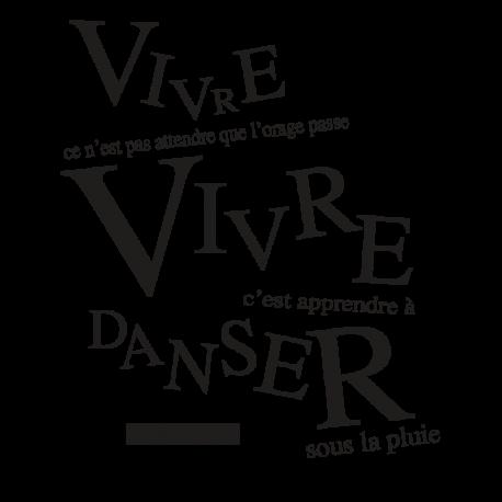 Stickers citation célèbre Vivre