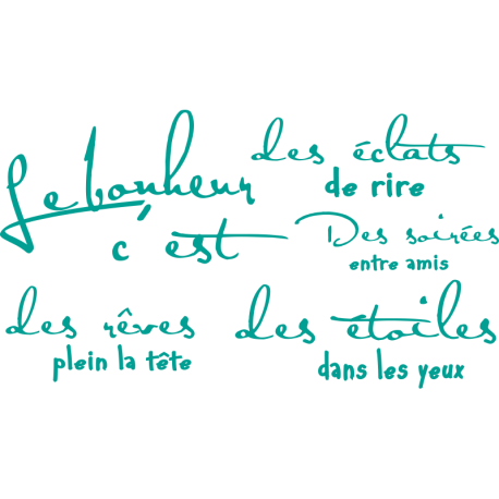 Stickers textes Le Bonheur définition