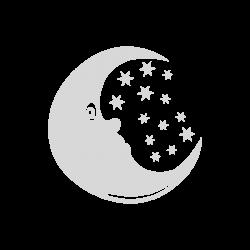 Sticker au Clair de Lune