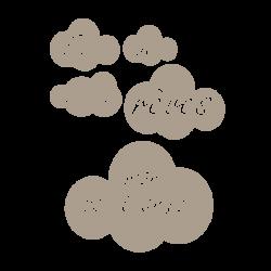 Stickers nuages avec textes