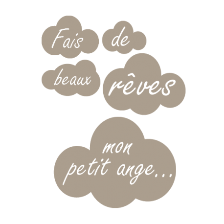 Stickers nuages pour chambre d\'enfant - Stickers muraux Decorecebo
