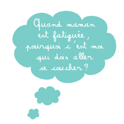 Sticker nuage textes enfants