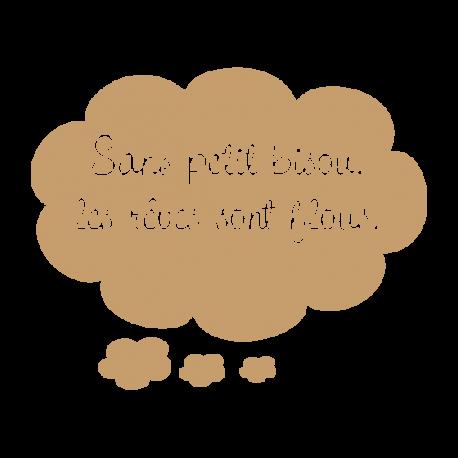 Sticker nuages textes bisous