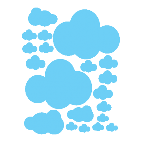 Stickers petits nuages