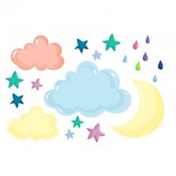 Stickers Trois nuages et plus