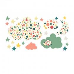 Stickers de nuages à pois