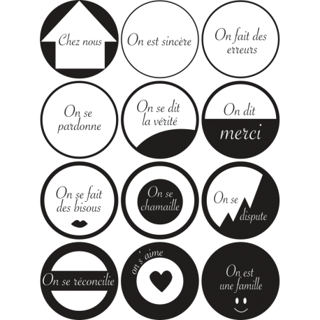 Sticker Design Regles De La Maison Avec Cercles Pour Deco Originale