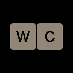 Stickers lettres de jeu WC