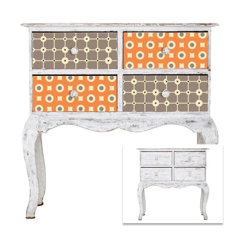 stickers motifs r tro pour tiroirs meubles et autres accessoires. Black Bedroom Furniture Sets. Home Design Ideas
