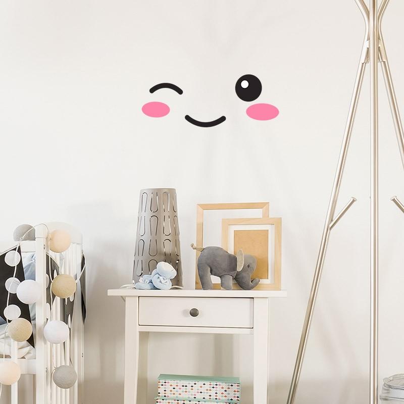 stickers meubles pour b b yeux bouche pommettes pour. Black Bedroom Furniture Sets. Home Design Ideas