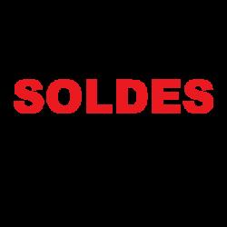 Sticker texte Soldes vitrine