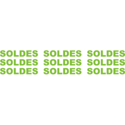 Stickers bannière Soldes pour vitrine