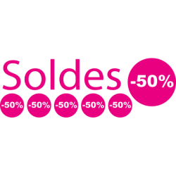 Stickers soldes pour vitrine