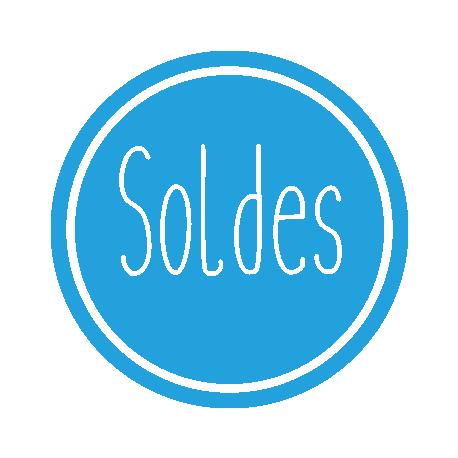 Sticker signalétique vitrine soldes