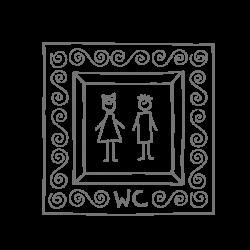 Sticker pour les WC Cadre homme femme