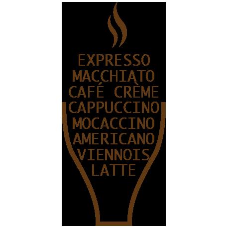 Stickers cuisine textes café