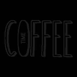 Sticker pour cuisine texte Coffe