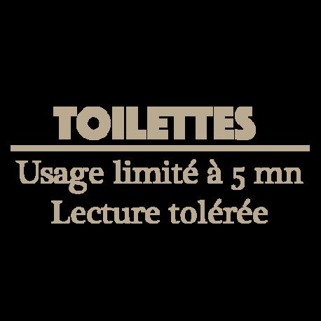 Sticker porte WC Usage limité