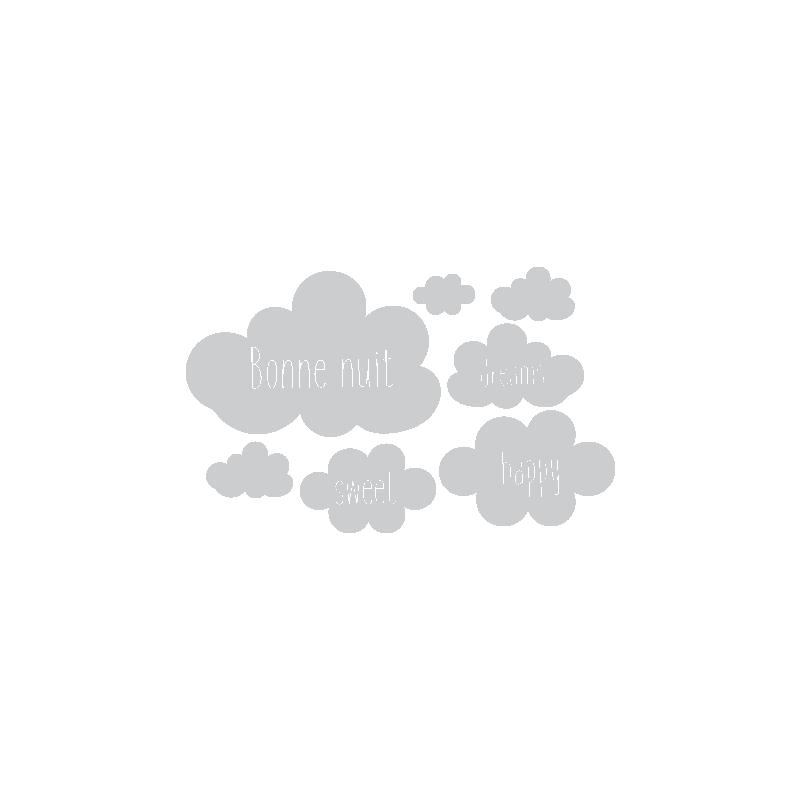 Stickers nuages chambre b b autocollants nuages avec textes d cor c bo - Stickers chambre bebe nuage ...