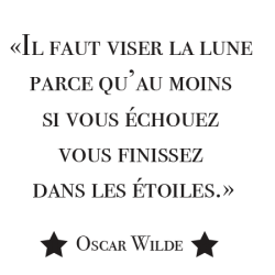 Sticker citation Il faut viser la lune ...