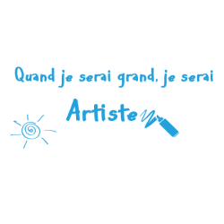 Sticker texte enfant artiste