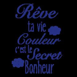 Sticker citation enfant Rêve ta vie en couleur