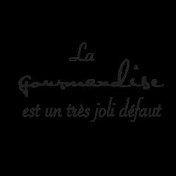 Sticker textes cuisine Gourmandise