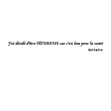 Sticker citation Heureux Voltaire