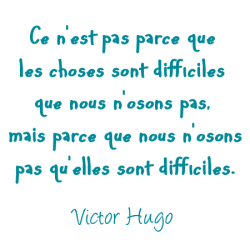 Sticker citation Victor Hugo