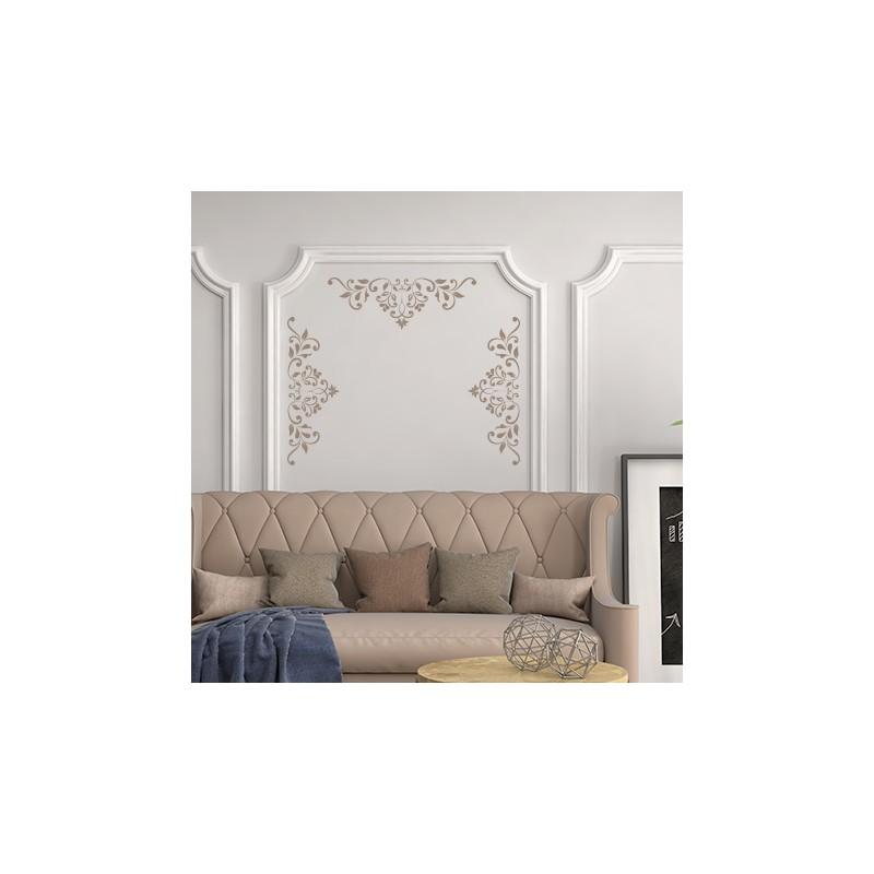 Stickers muraux frises baroque petales adh sifs salle de - Stickers baroque pour meuble ...