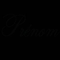 Sticker prénom personnalisable chic
