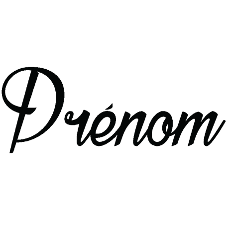 Sticker prénom personnalisable calligraphie