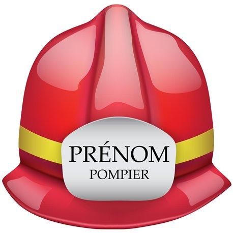 Sticker casque pompier personnalisable