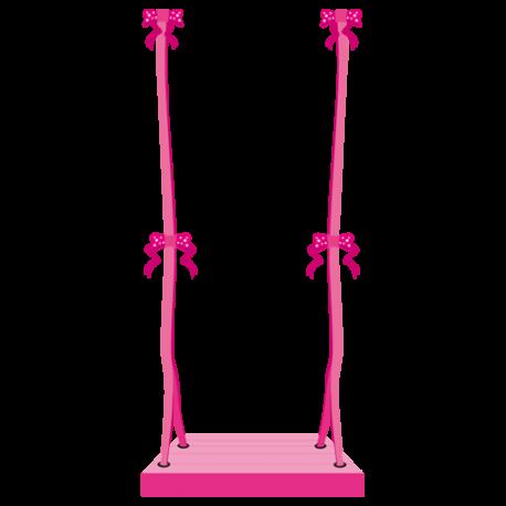 Sticker balan oire rose chambre enfant fille princesse par for Balancoire pour chambre