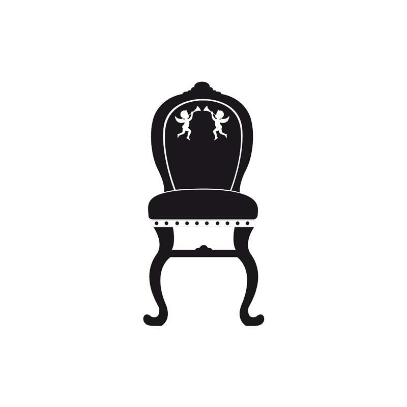 sticker chaise baroque pour d coration de la maison par d or c bo. Black Bedroom Furniture Sets. Home Design Ideas