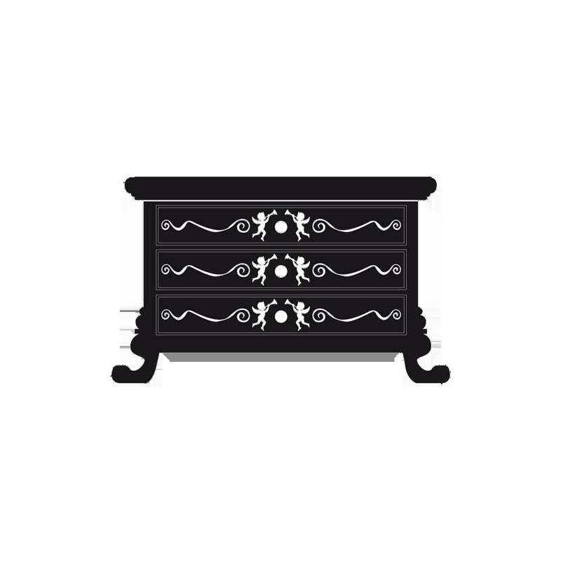Sticker commode baroque pour d coration murale de la - Stickers baroque pour meuble ...