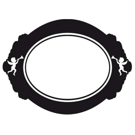 sticker cadre baroque forme miroir pour d co de mur par d cor c bo. Black Bedroom Furniture Sets. Home Design Ideas