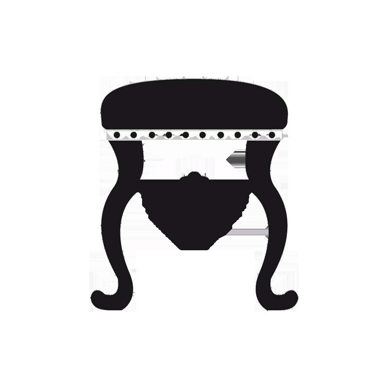 sticker tabouret pour ambiance baroque d coration de porte ou mur. Black Bedroom Furniture Sets. Home Design Ideas