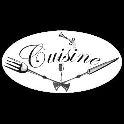 Sticker enseigne de cuisine