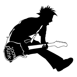 Sticker guitariste