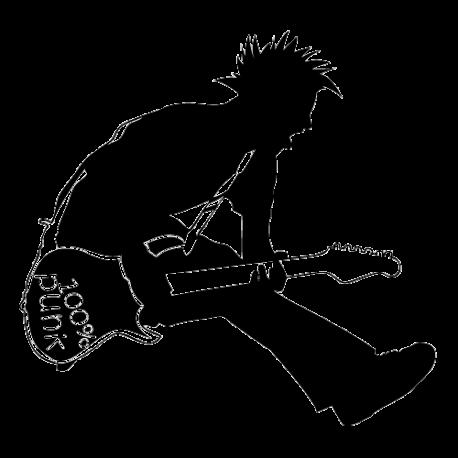 Sticker guitariste