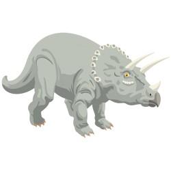 Sticker dinausore Tricératops
