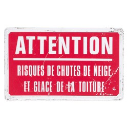 Sticker panneau : Attention