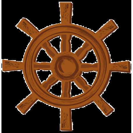 Stickers pirate : La barre