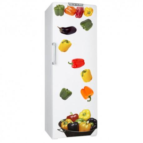 Sticker frigo poivrons